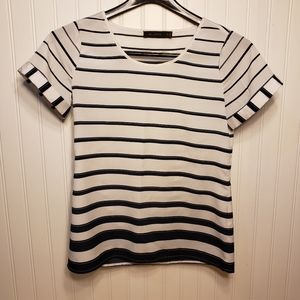 3/$25 The Limited Striped Short Sleeve Top Sz XS